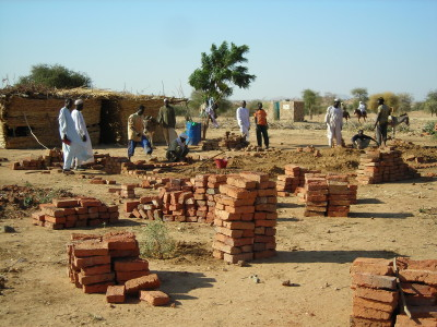 Construction of primary school in Bakhita village, eastern Chad